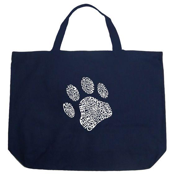 Los Angeles Pop Art Dog Paw Shopping Tote Bag