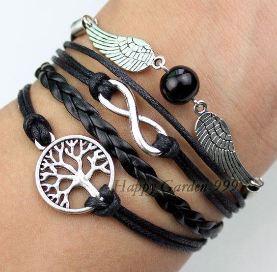 Wishing tree bracelet  infinity bracelet  Harry by happygarden999, $6.19