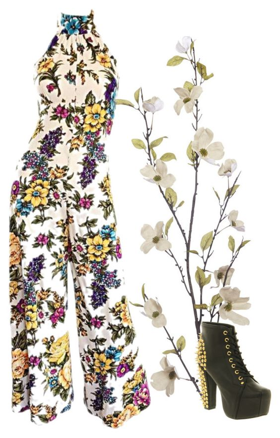 """Floral garden"" by dream-create on Polyvore featuring Pier 1 Imports and Jeffrey Campbell"