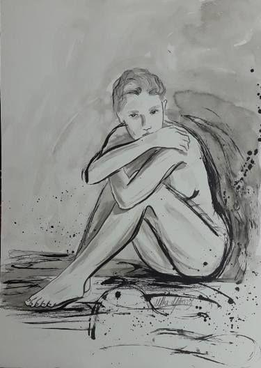 """Saatchi Kunst Künstler Ulku Yilmaz;  Zeichnen, """"Figure Drawing"""" #Art"""