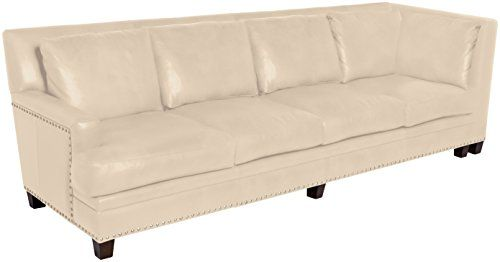 Omnia Leather Glendora Left Arm 4 Cushion Sofa With Right Return In  Leather, With Nail
