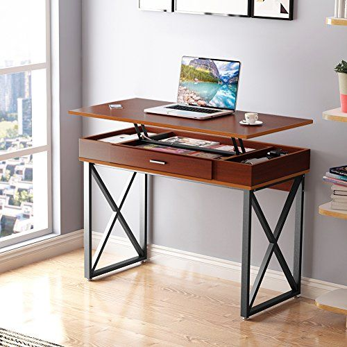 Tribesigns Lift Top Computer Desk Adjustable Height Desk