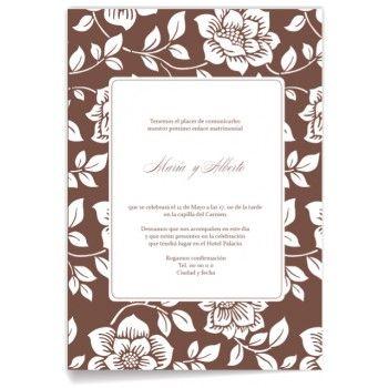 Invitaciones de boda Corteza Floreada