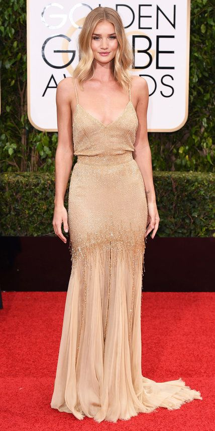 2016 Golden Globes Red Carpet Arrivals - Rosie Huntington-Whiteley - from InStyle.com