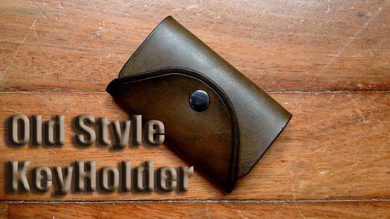 Cómo coser un llavero de cuero || How to sew a leather keychain