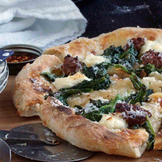 ricotta amp ricotta cheese pizza sausage amp ricotta cheese nosh pizza ...