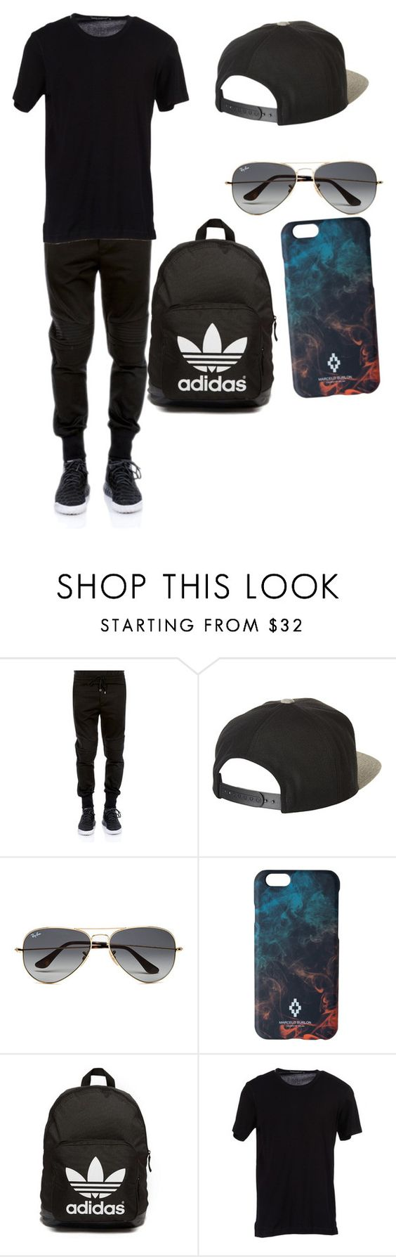 """""""EGOR"""" by explorer-14655713062 ❤ liked on Polyvore featuring Dolce&Gabbana, Brixton, Ray-Ban, Marcelo Burlon, adidas Originals, men's fashion and menswear"""