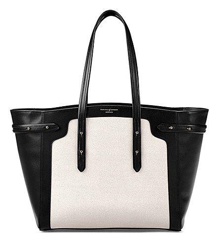 ASPINAL OF LONDON - Marylebone light leather tote bag | Selfridges.com