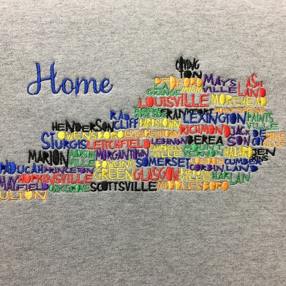 There's no place like home!! Show your love of the Bluegrass state. Other states available- just ask.