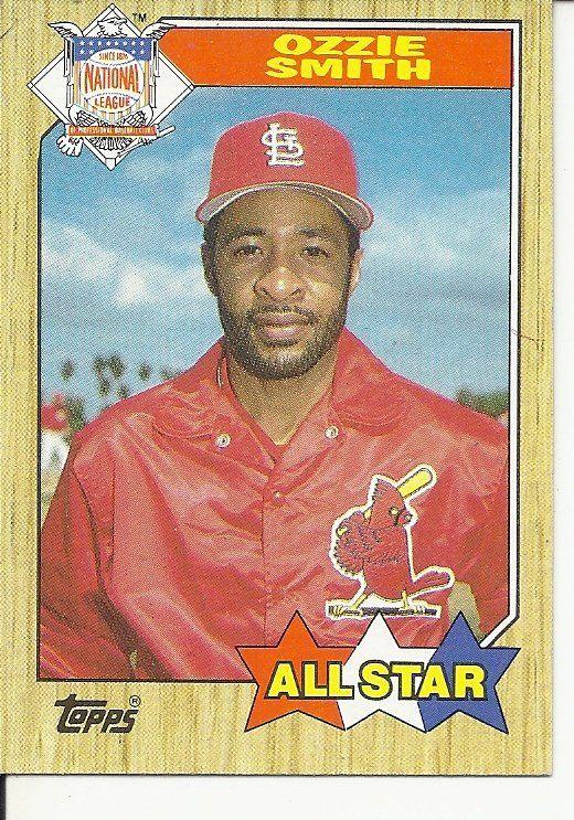 Bs 1 1987 Topps 598 All Star Ozzie Smith Old Baseball Cards Major League Baseball Players Baseball Star