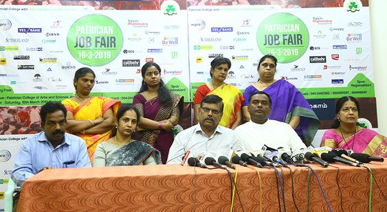 Patrician Job Fair 16 3 2019 Press Meet