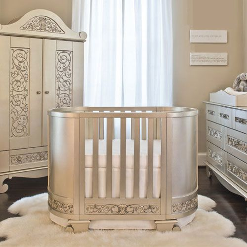 Chelsea Darling Cradle To Crib In Antique Silver Antique