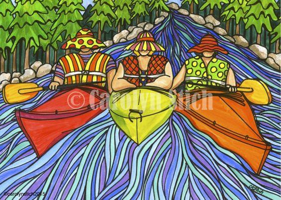 The Girls Kayaking