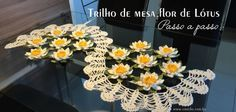 Trilho de mesa flor de lótus