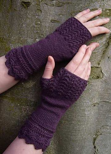Knitting Patterns For Fingerless Gloves With Mitten Cover : Gloves, Ravelry and Patterns on Pinterest