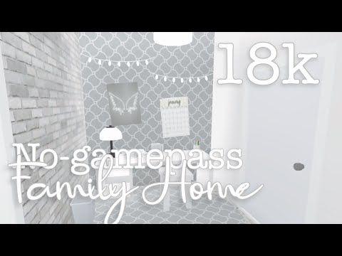 18k No Gamepass Cheap Family Home Bloxburg Youtube Cheap