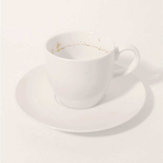 teacup by Yukihiro Kancuchi  appears to be a dirty coffee cup, but look closer.