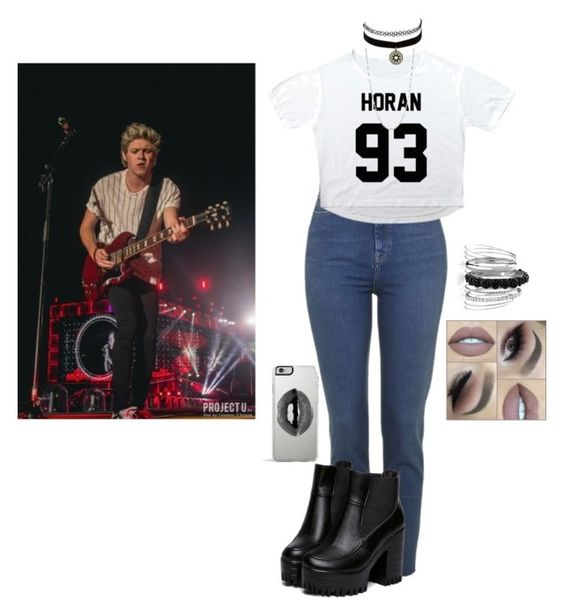"""Seeing Niall in Concert (Jesy's Style)"" by littlemix-notebook ❤ liked on Polyvore featuring Charlotte Russe, Anne Klein, Avenue and Lipsy"