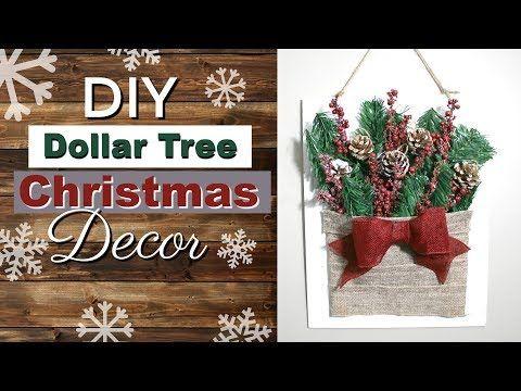 Diy Dollar Tree Christmas Wall Hanging Dollar Tree Christmas Diy 2018 Youtube Dollar Tree Christmas Decor Christmas Wall Hangings Dollar Tree Gifts