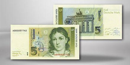 BRD 5 DM Bettina von Arnim Banknote