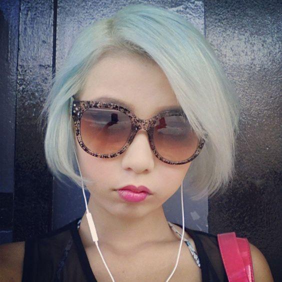 @yumustagram - Pastel blue hair yayy! #manicpanic #bluehair... - EnjoyGram