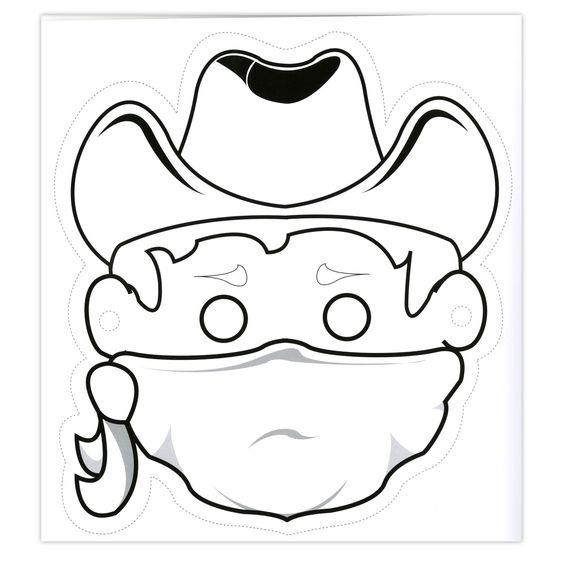 masker carnaval maskers werkjes en cowboys
