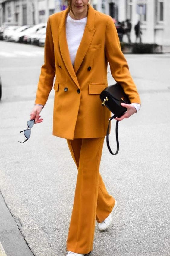 instagram mustard suit; katiquette