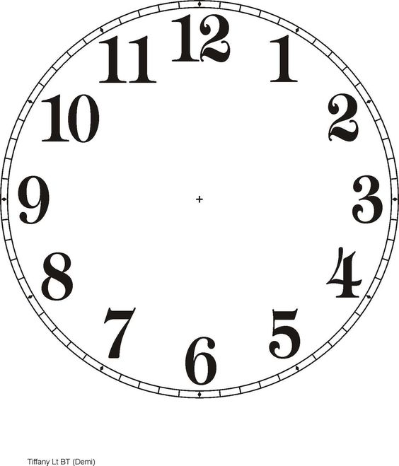 Printable Clock Templates | Here are a few examples::