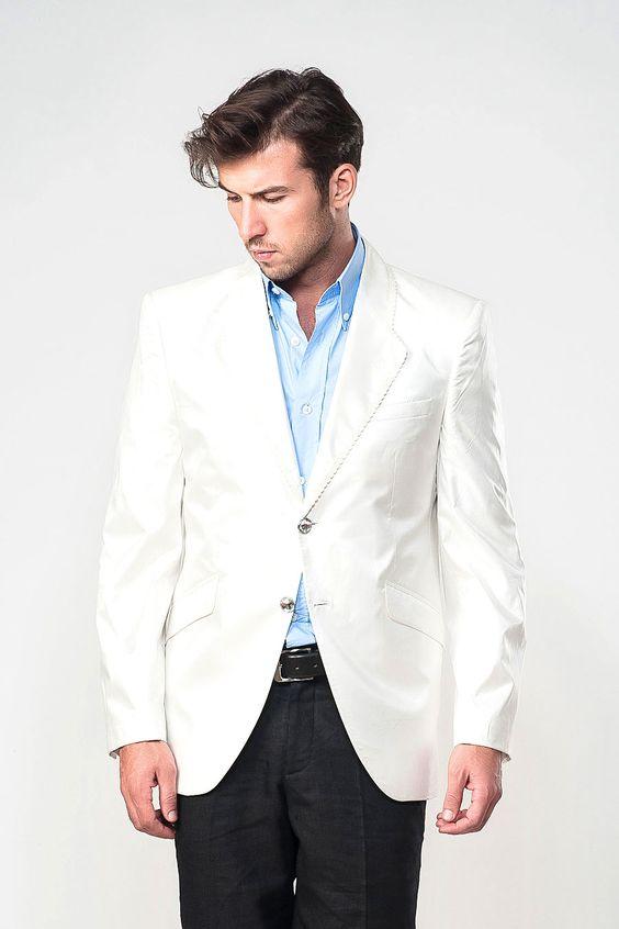 White Blazer Men Dewberry off-white blazer | My Style | Pinterest ...