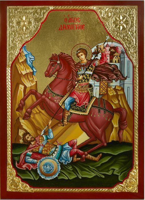 Άγιος Δημήτριος: H ιστορία, το κόκκινο άλογο και το μύρο († 26 Οκτωβρίου)