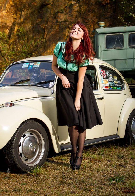 Girls and cars. Beetle - cute! | Hose & Heels: Hubba! | Pinterest ...
