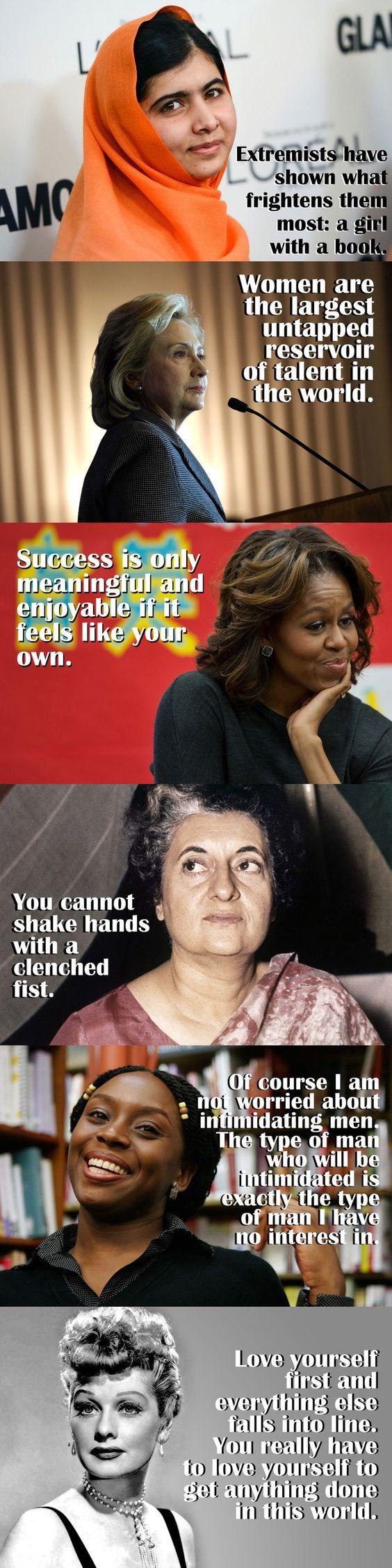 Inspirerende uitspraken van beroemde vrouwen.: