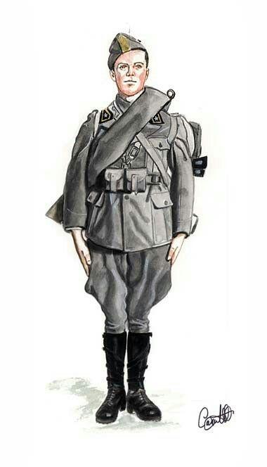 Italian Army, artillery, uniform 1940, pin by Paolo Marzioli