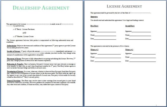 A Dealership Agreement is signed between two parties; the supplier - joint partnership agreement template