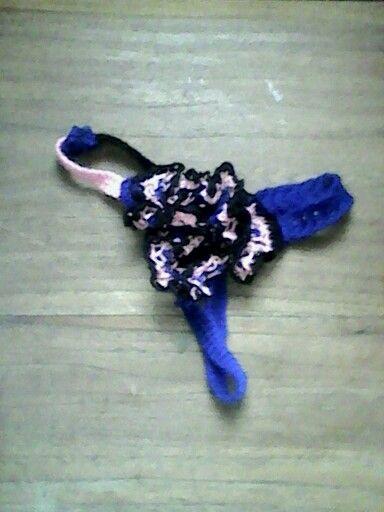 Rose crochet panties