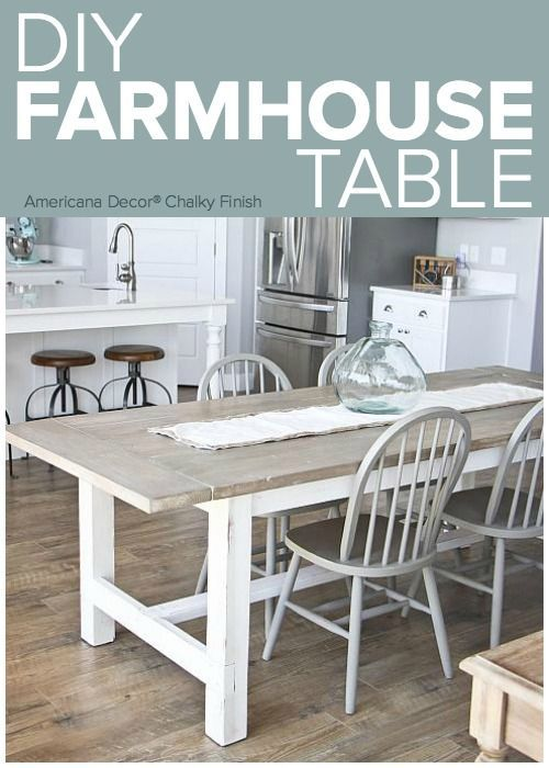 Farmhouse Dining Table Is A Great Addition To Create Rustic Cozy Look In A Dining Room Farmhouse Dining Table Dining Chairs Diy Large Farmhouse Dining Table
