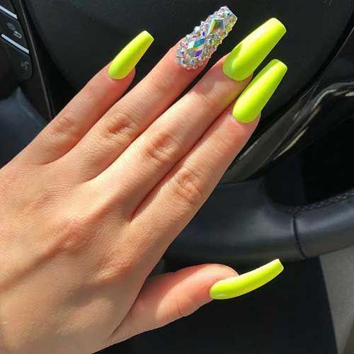 Best Nail Shapes For Hands Nailshapesballerina Neon Green Nails Neon Acrylic Nails Coffin Shape Nails
