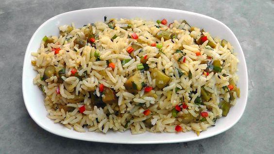 Chinesischer Auberginen Reis