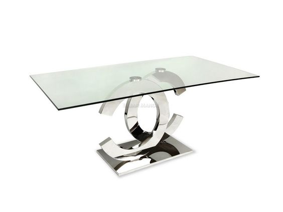 Coco Dining Table The Very Sleek Mirror Polished