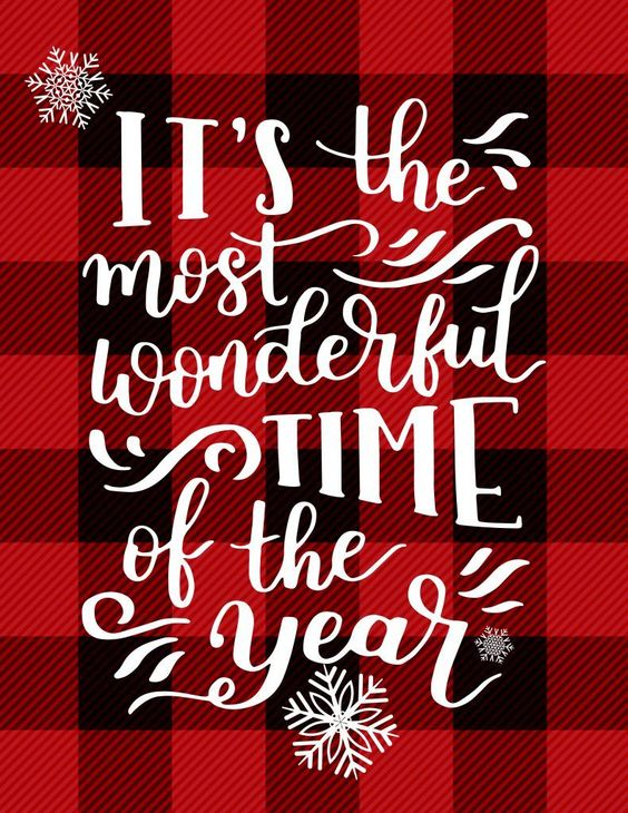 It's the Most Wonderful Time of the Year - A Free Printable perfect for adding a little buffalo plaid and Christmas Cheer to your Holiday Decor!   Busy Being Jennifer