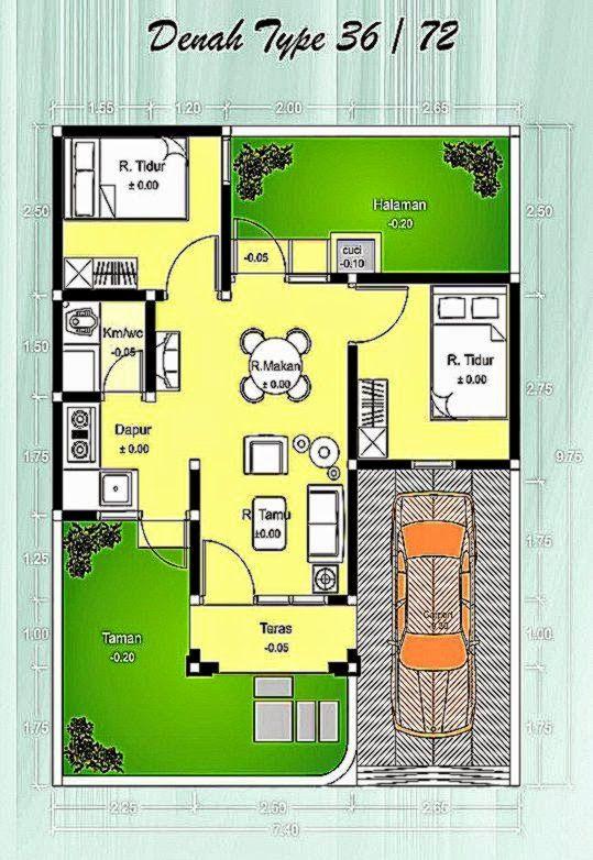Denah Renovasi Rumah Type 36 72 - Content