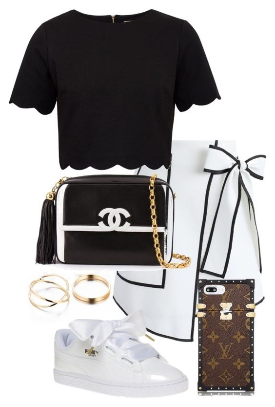 Untitled #52 by franciscanunes on Polyvore featuring polyvore fashion style Ted Baker Chicwish Chanel clothing