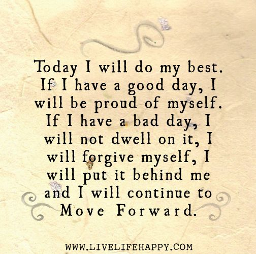 Today I Will Do My Best - Live Life Quotes, Love Life Quotes, Live Life Happy: