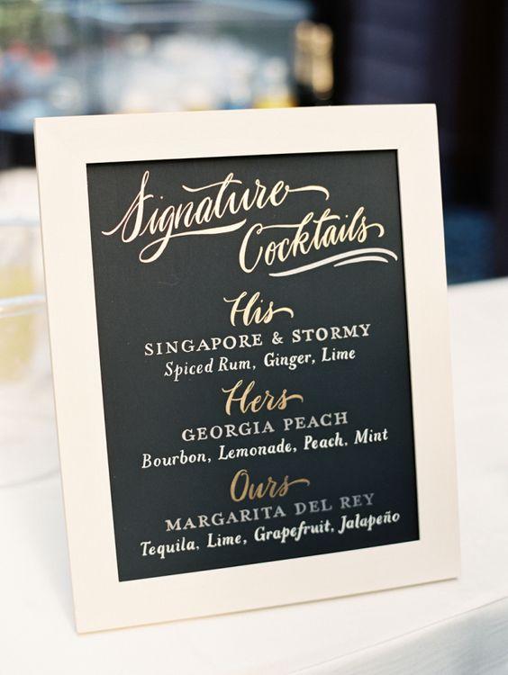 His & hers cocktails: | fabmood.com #signaturedrinks