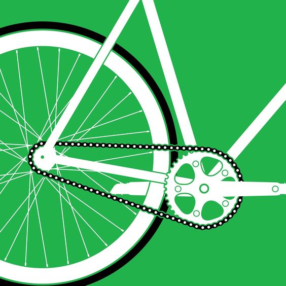 Detail from bike print available at: http://etsy.com/shop/arkstudiodesigns #bike #cycling #fixedgear #singlespeed #print #art #illustration #graphicdesign #design #graphics #etsy