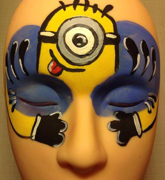 #minion #facepaint #tampa #hollifieldcustomcreations