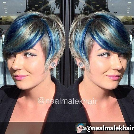 Sehr trendy Kurzhaarfrisuren mit Farben, die glücklich machen …. 11 Stück! - Neue Frisur