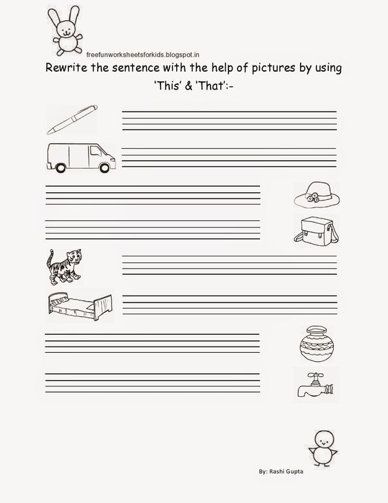 Free Fun Worksheets For Kids: Free Printable Worksheet for Class ...