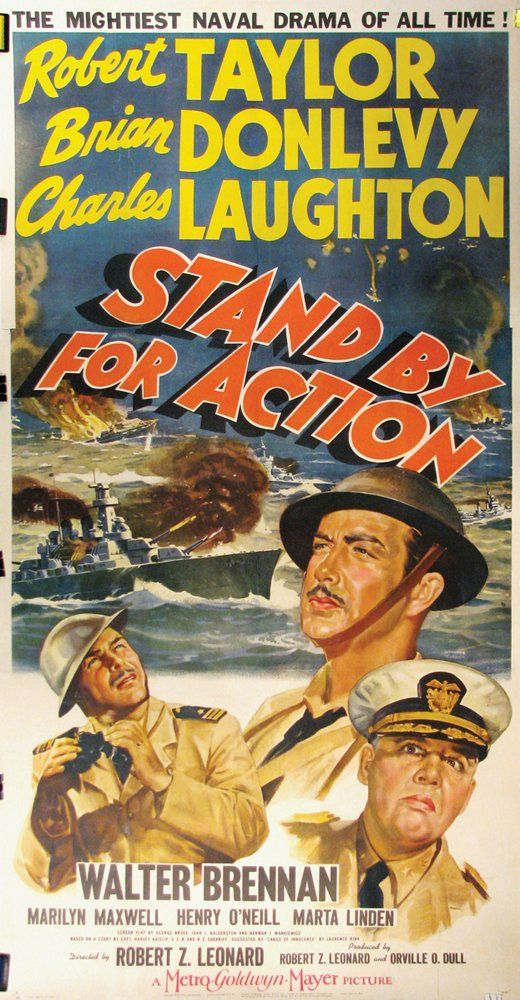 Charles Laughton Robert Taylor And Brian Donlevy In Stand By For