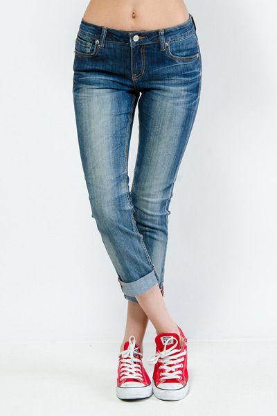 Sandblast Denim Capri Pants $21.99 Perfect jeans tennis shoes ...